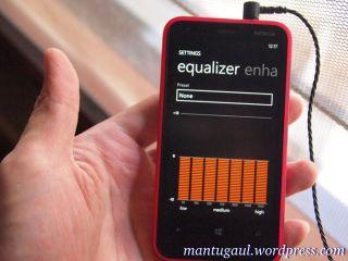 Pengaturan Equalizer di Lumia 620 dengan Hippo ProOne