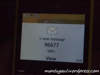 SMS masuk