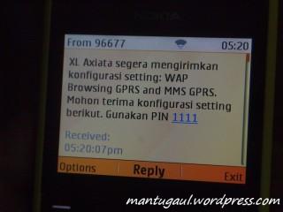SMS pengaturan hp