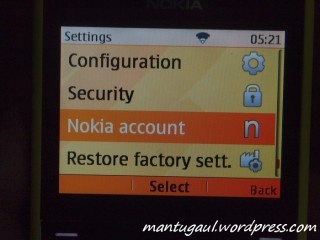 Nokia account