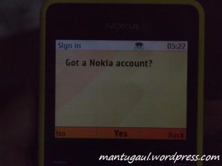 Untung sudah punya Nokia account :)