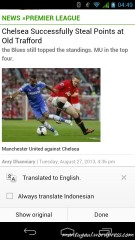 Chrome brower terbaru bisa terjemahkan artikel