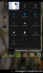 Notification bar kedua untuk pengaturan wifi, bluetooth dll