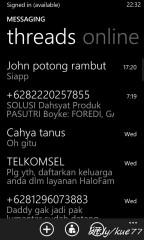SMS dan Facebook Messages