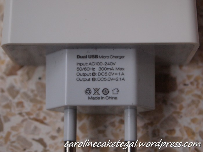 Spesifikasi charger