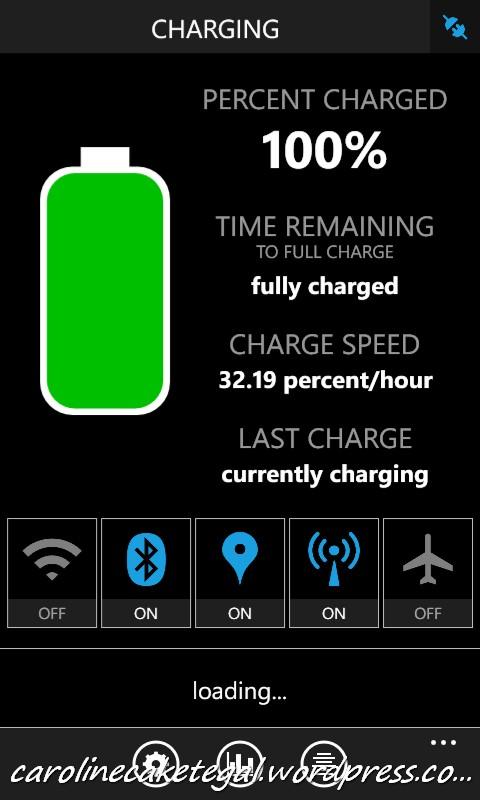 Status baterai dengan Kabel Zaxti 80cm