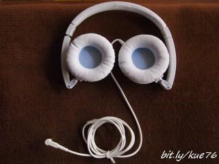 Posisi headphone terlipat