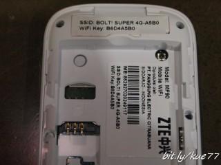 Bagian dalam, perhatikan diatas ada wifi key, itulah password wifi Anda