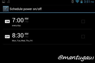 Schedule power off & on