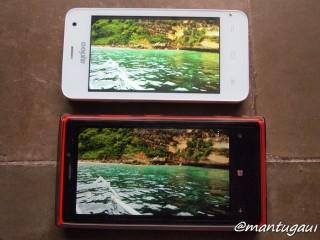 Perbandingan layar dengan Nokia Lumia 920