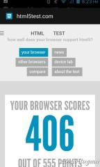 HTML5 test dengan browser bawaan