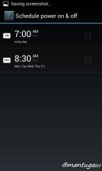 Power schedule