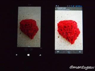 Perbandingan layar dengan Lumia 920