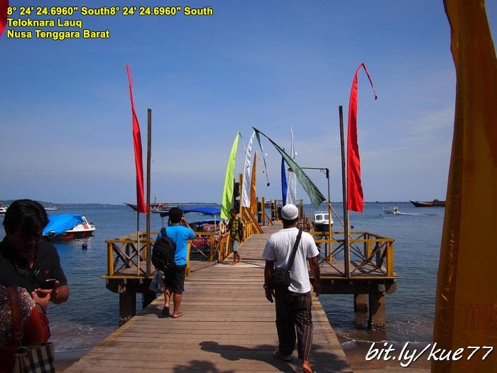 Tiba di dermaga dari Lombok tujuan Gili Trawangan