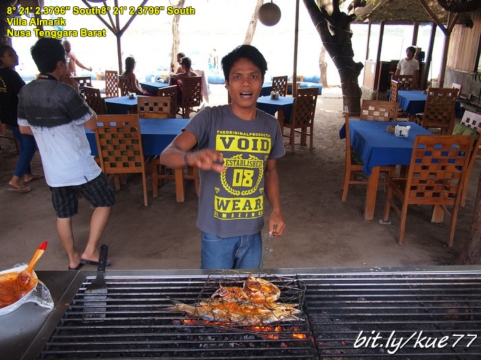Makan siang di Gili Trawangan