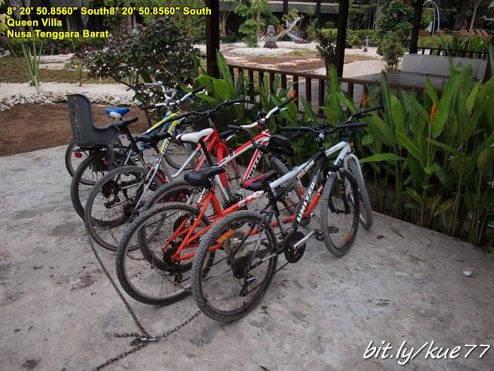 Hotel Queen Gili Trawangan sewa sepeda gratis