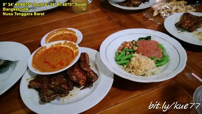 Langsung makan malam, Ayam Taliwang Super Pedas Khas Lombok :maknyos