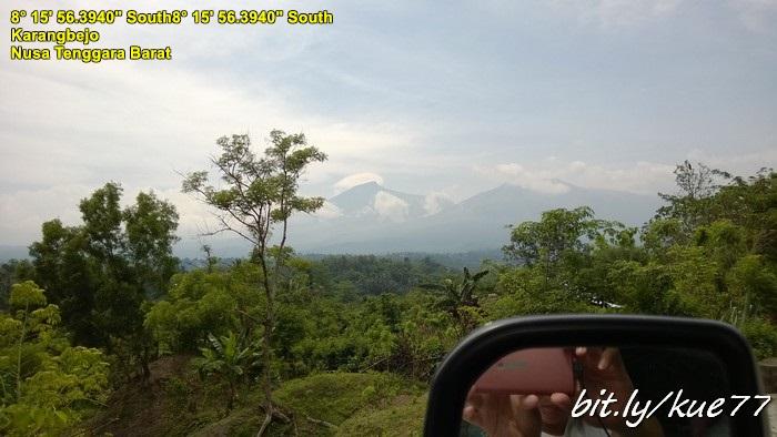 Melihat Gunung Rinjani dari kejauhan
