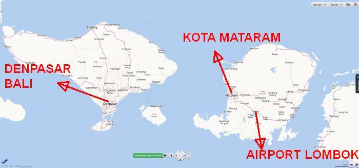 Lombok bersebelahan dengan Bali