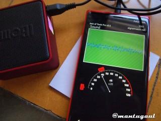Sound test iBomb Cube dengan AUX
