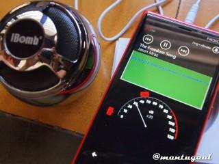Sound test iBomb Thunderball dengan AUX