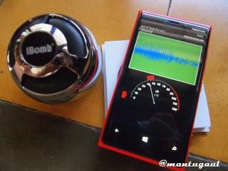 Soundtest iBomb Thunderball dengan koneksi bluetooth