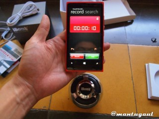 Merekam suara iBomb Thunderball dengan Lumia 920