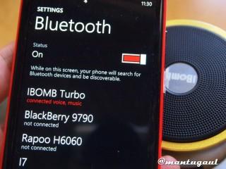 Bluetooth terhubung melalui sentuhan NFC iBomb Turbo