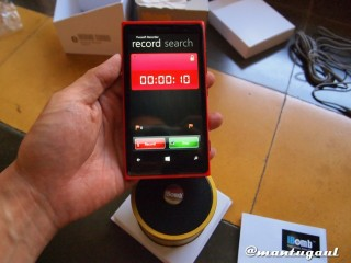 Merekam suara Musik iBomb Turbo dengan HAAC Lumia 920