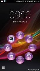 Ini instal Xperia theme dengan smart launcher
