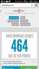 HTML5test dengan Google Chrome