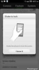 Shake to lock