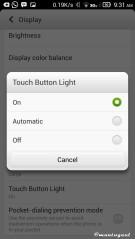Touch button light