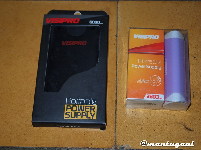 Powerbank Visipro 6000 & 2600mAh