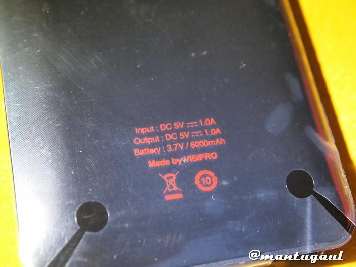 Powerbank Visipro 6000 spesifikasi