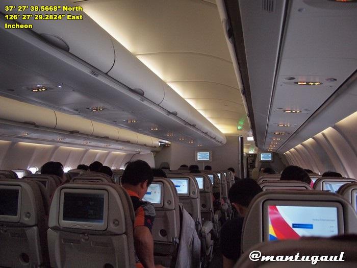 Dalam pesawat Asiana Airlines