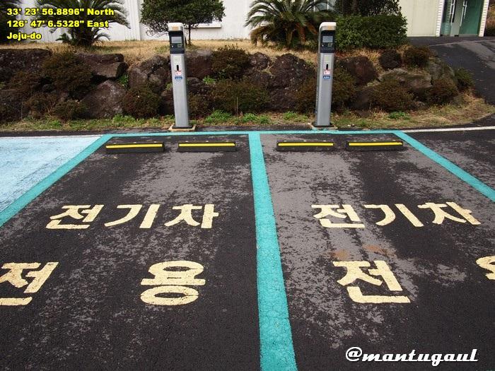 Di kampung aja ada parkiran khusus mobil listrik