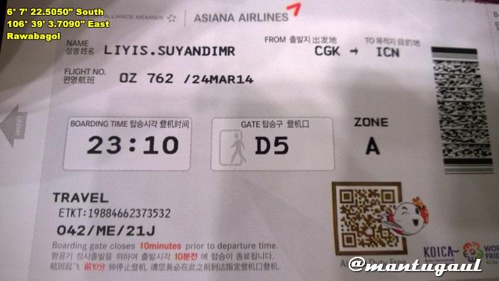 Tiket CGK-ICN