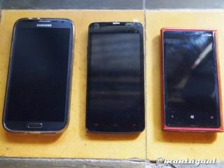 Perbandingan dengan Lumia 920 dan Gnote2