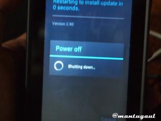 Installing update pertama