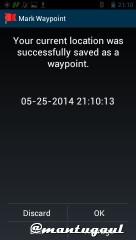 Save waypoint
