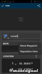 Edit waypoint