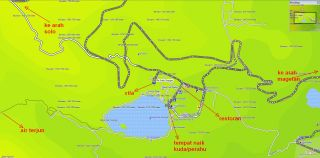 Peta daerah Sarangan