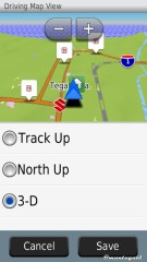 Driving map view