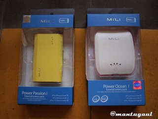 Powerbank Mili Power Passion I & Power Ocean I