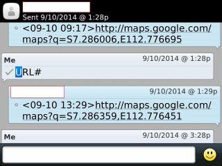 Melacak via SMS
