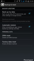 Backup & Reset