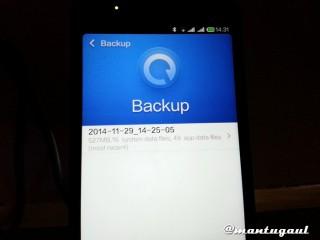 Backup dulu karena ada update OTA
