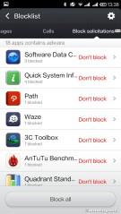 Blocklist setting