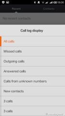 Call log